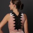 Воротник пришивной, 39,5 × 23 см, цвет чёрный - фото 690378