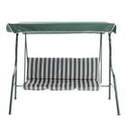 """Качели садовые """"Уют"""" зеленые, 170 х 150 х 110 см, максимальная нагрузка 210 кг - фото 932145"""