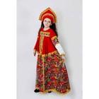 Карнавальный костюм «Боярыня», платье, кокошник, р. 34, рост 134 см - фото 105521837
