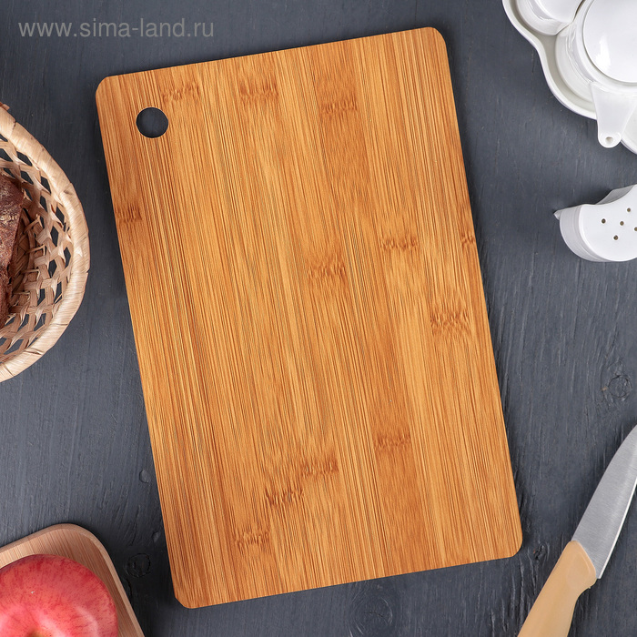 "Cutting Board 30 * 19 on 5 cm ""Fidan"", bamboo"