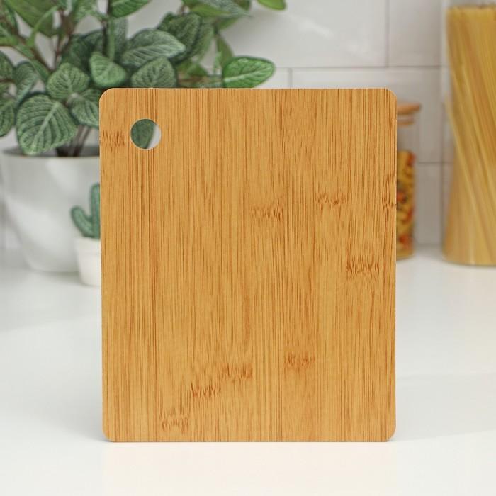 "Cutting Board 23,5x19 cm ""Fidan"", bamboo"