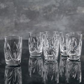 Набор стопок для вина НЕМАН «Камыши», 35 мл, 6 шт