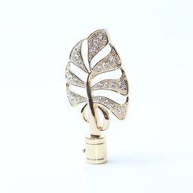 Наконечник «Бриллиантовый лист», 2 шт, цвет золото глянец