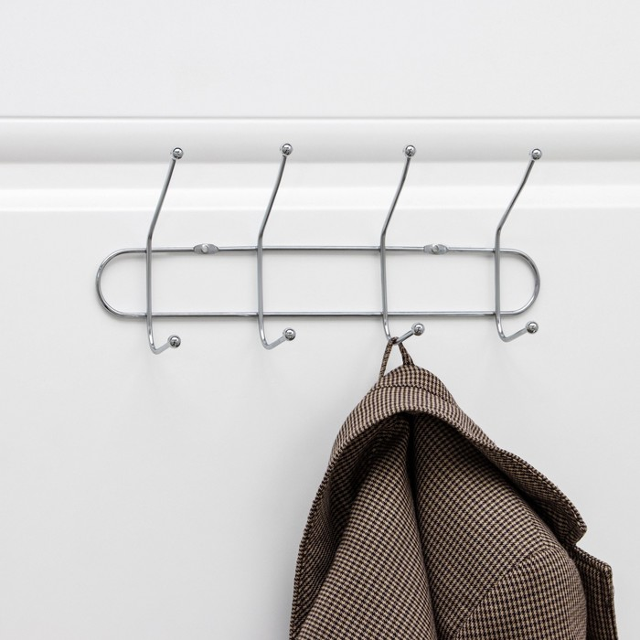 Wall hanger with 4 double hook