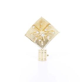 Наконечник «Бриллиантовая роса», 2 шт, цвет золото глянец