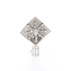 Наконечник «Бриллиантовая роса», 2 шт, d=16 мм, цвет серебро глянец