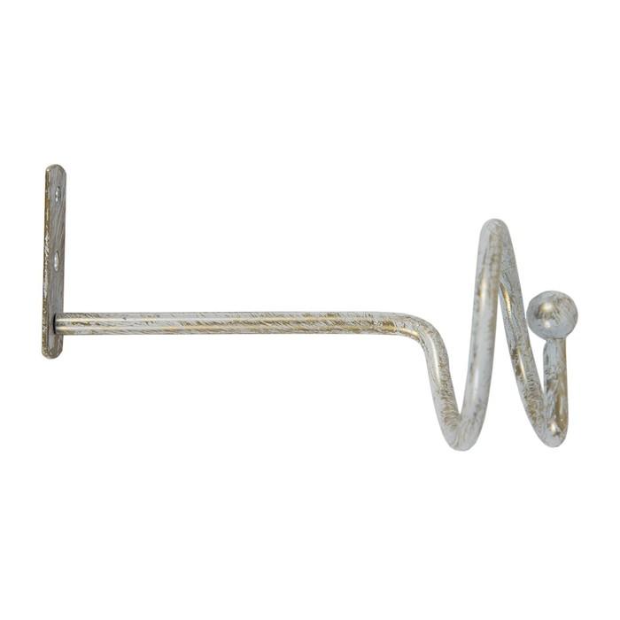 Держатель для штор «Спираль», 2 шт, цвет слоновая кость