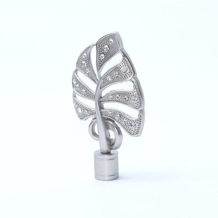 Наконечник «Бриллиантовый лист», 2 шт, d=16 мм, цвет сатин