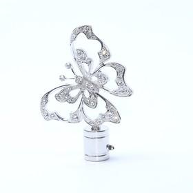 Наконечник «Бабочка», 2 шт, цвет серебро глянец