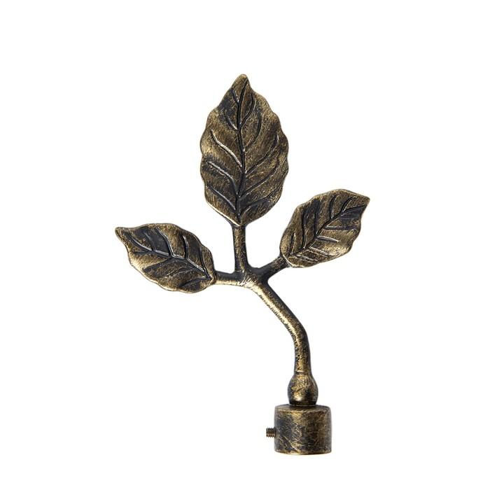 Наконечник «Листок», 2 шт, d=16 мм, цвет коричневое золото