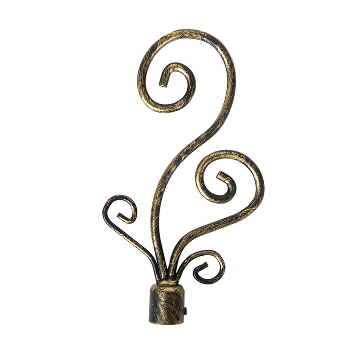 Наконечник «Завиток», 2 шт, d=16 мм, цвет коричневое золото