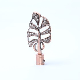 Наконечник «Бриллиантовый лист», 2 шт, d=16 мм, цвет медь