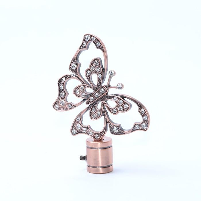 Наконечник «Бабочка», 2 шт, цвет медь