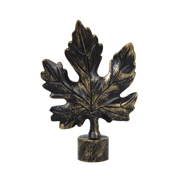 Наконечник «Виноградный лист», 2 шт, d=16 мм, цвет коричневое золото