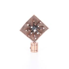 Наконечник «Бриллиантовая роса», 2 шт, d=16 мм, цвет медь