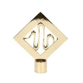 Наконечник «Ромб», 2 шт, d=16 мм, цвет золото глянец