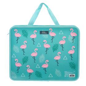 "Folder with handles plastic A4 330х260х75 mm ""Flamingo"""