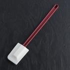 Шпатель силиконовый 32x7x2 см, ручка красная - фото 308038980