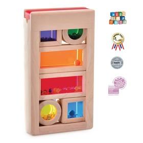 """Деревянная игрушка """"Радужные блоки"""", со звуковым эффектом, в контейнере"""
