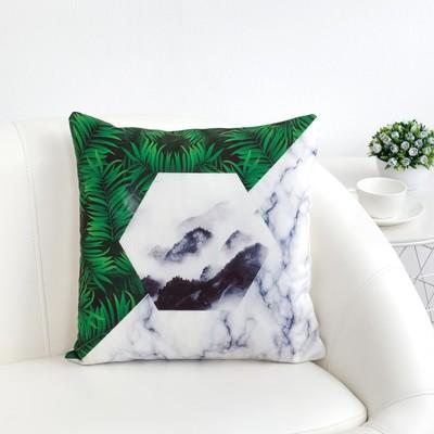 Наволочка декоративная Этель Геометрия «Мрамор», 40 × 40 см,100 % п/э
