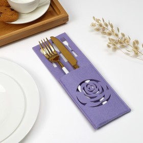 """The envelope for Cutlery Share""""rose"""" the color purple,9 x 25cm, 100% p/e, felt"""