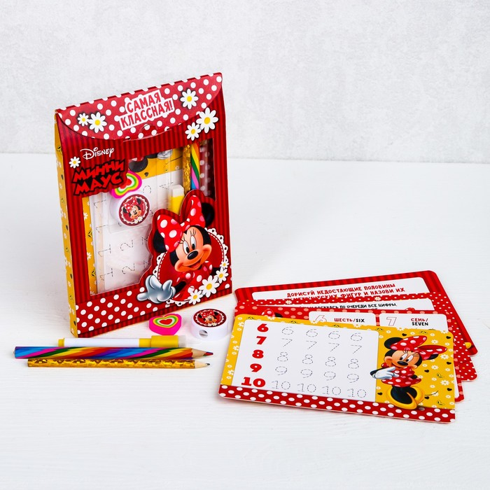 Письменный набор в рюкзаке-картон, Минни Маус