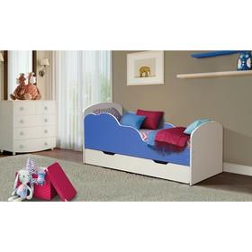 Кровать детская «Облака №2», 700 × 1400 мм, цвет белый/синий
