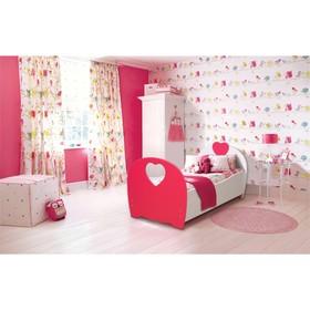 Кровать детская «Сердце», 800 × 1600 мм, цвет белый/красный