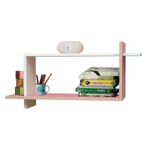 Полка навесная №7, 800 × 250 × 400 мм, цвет белый/ярко-розовый Ош