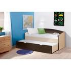 Кровать детская выдвижная, 1942 × 840 × 920 мм, цвет дуб молочный/венге