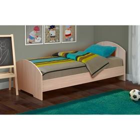 Кровать на уголках №2, 700 × 2000 мм, 2042 × 770 × 810 мм, цвет дуб молочный