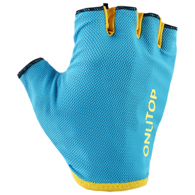 Перчатки спортивные, размер L, цвет голубой Ош
