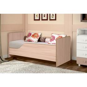 Кровать детская с бортом «Малышка №1», 600 × 1400 мм, цвет дуб молочный