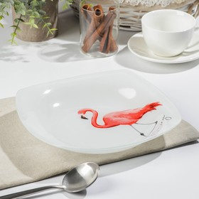 """Тарелка глубокая 500 мл, 21,5x21,5 см """"Фламинго"""""""