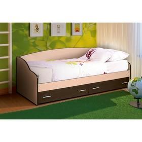 Кровать «Софа №3», 800 × 1900 мм, цвет дуб молочный/венге