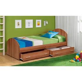 Кровать на уголках №2 с ящиками, 900 × 2000 мм, 2042 × 970 × 810 мм, цвет слива валлис