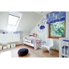 Кровать детская с фотопечатью «Совята», без ящика, 700 × 1400 мм, цвет белый