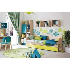 Кровать «Софа №5», 800 × 1900 мм, цвет ясень шимо светлый/лайм