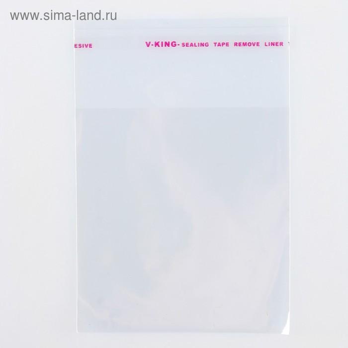 Пакет БОПП с клеевым клапаном 8 х 8/4 см, 25мкм