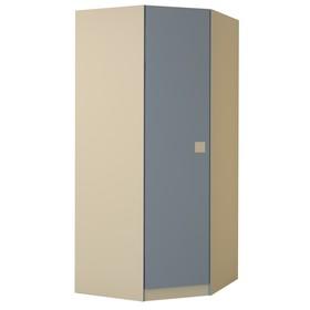 Шкаф «Радуга», МДФ, угловой, цвет василёк