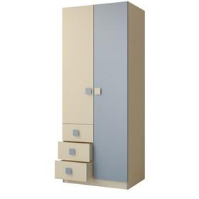 Шкаф «Радуга», МДФ, 80 см, цвет василёк