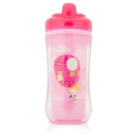 Чашка-термос 300 мл, с твердым носиком, от 12 мес., цвет розовый