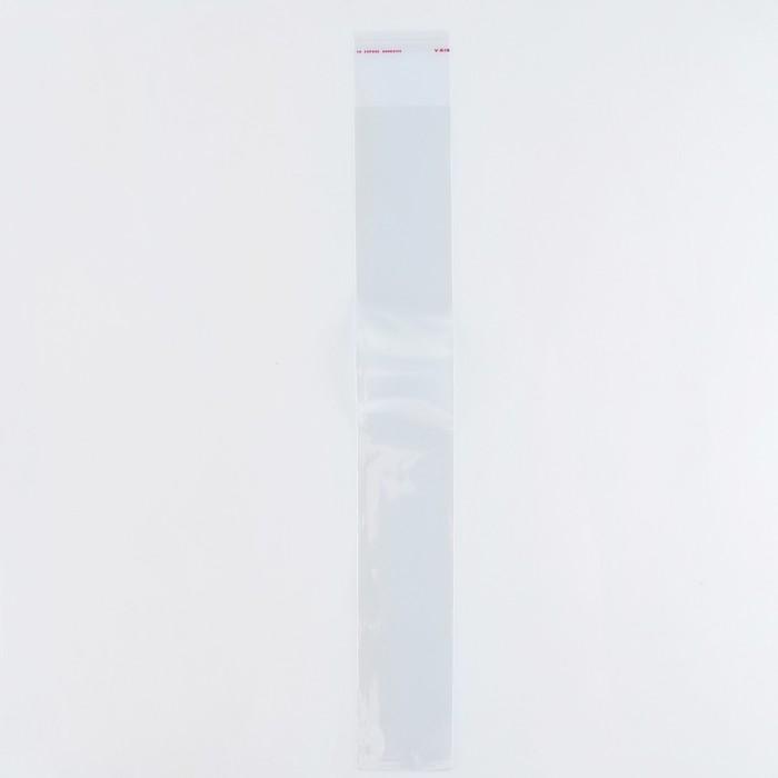 Пакет БОПП с клеевым клапаном 5,8 х 40/4 см, 25мкм - фото 161877545