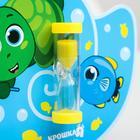 Песочные часы для чистки зубов на присоске «Черепашка», 3 минуты - фото 1410647