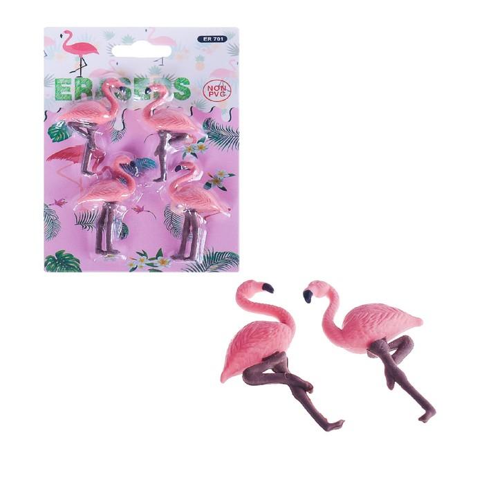 Набор ластиков фигурных, 4 штуки, «Фламинго», МИКС