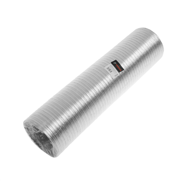 Воздуховод гофрированный TUNDRA, d=120 мм, раздвижной до 3 м, алюминиевый