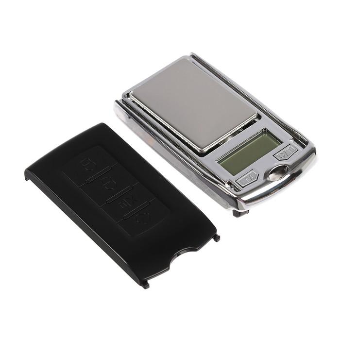 Весы LuazON LuazON LVU-03 , портативные, электронные, до 200 гр, черный/хром - фото 440951915