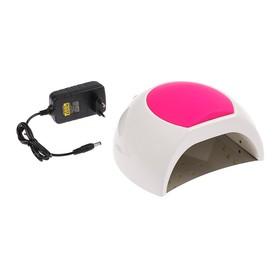 Лампа для гель-лака LuazON LUF-16, LED, 48 Вт, 33 диода, таймер 10/30/60/90 сек, белая