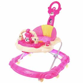Ходунки «Обезьянка», 8 сил. колес, муз., свет, розовый