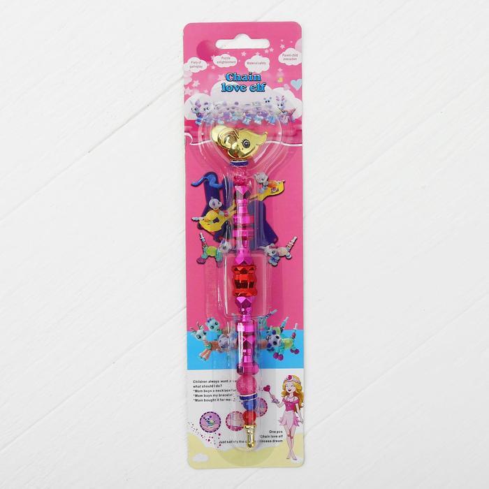 """Набор для творчества """"Блестяшка – мышка"""", создай браслет или фигурку животного, 2 в 1, цвета МИКС"""